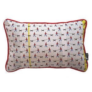 Dog Walker Stripe Cushion