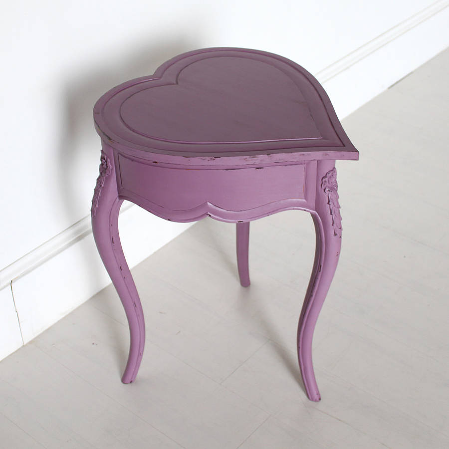 Heart Shaped Side Table With Lifting Lid By Out There