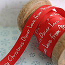 Personalised Christmas Ribbon