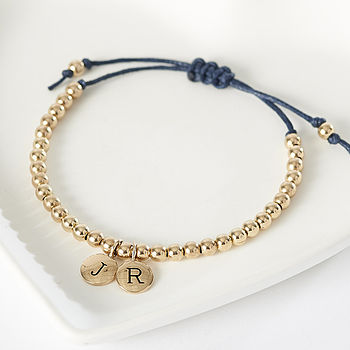 Gold Filled Initial Friendship Bracelet