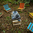 Pallet Chair In The Woods