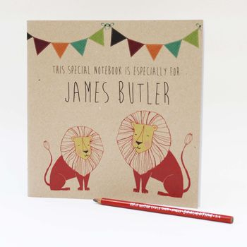 Personalised Lion Notebook