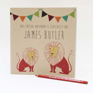 Personalised Animal Notebook - office & study