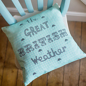 The Great British Weather Cushion