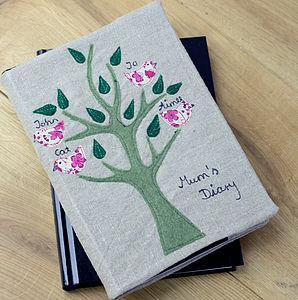Personalised Family Tree 2016 Diary - diaries