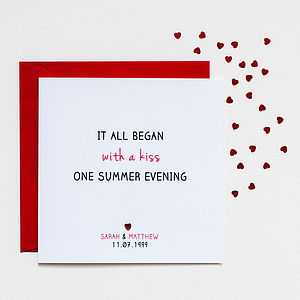 'It All Began' Anniversary Card - cards
