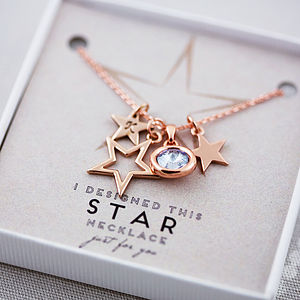 Design Your Own Star Necklace - personalised gifts