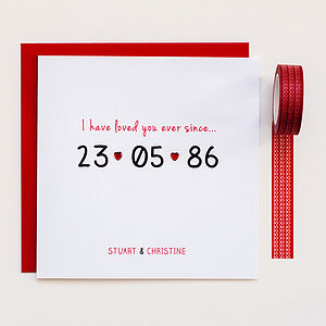 Personalised 'Special Date' Anniversary Card - wedding cards