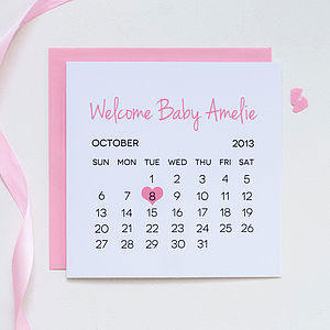 Personalised New Baby Card - cards, ribbon & wrap