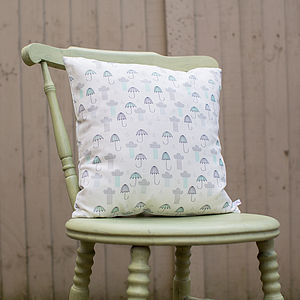 Umbrellas And Rain Clouds Cushion