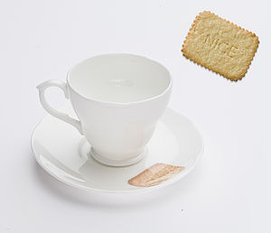 Nice Biscuit Tea Cup And Saucer - kitchen