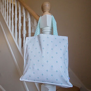 Umbrella Polka Dot Shopper Bag