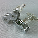 Bike Chain Link Cufflinks