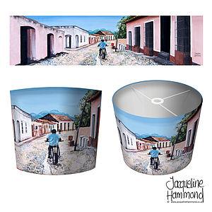 Cuban Motorbike Art Print Lampshade