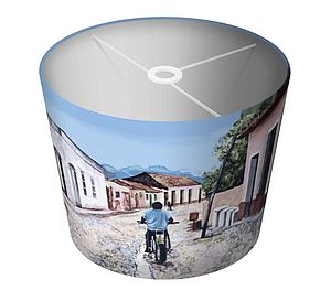 Cuban Motorbike Art Print Lampshade - lighting