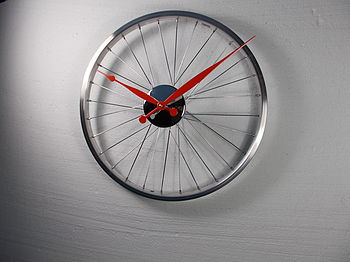 Bicycle Wheel Clock 43cm
