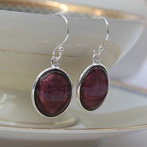 Silver Earrings In Murano Glass