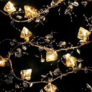 Antiqued Glass LED Fairy Lights - lights & candles