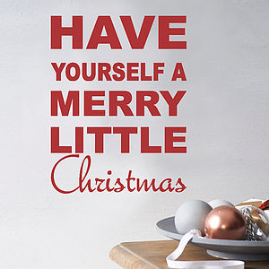 Merry Little Christmas Wall Quote - home accessories