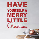 Merry Little Christmas Wall Quote