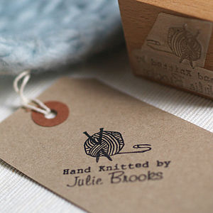 Personalised 'Hand Knitted By' Stamp - shop by category