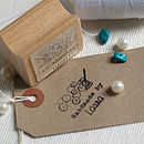 Needle And Thread Personalised 'Handmade By' Stamp