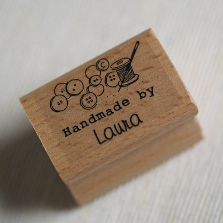 Needle And Thread Personalised Handmade By Stamp By