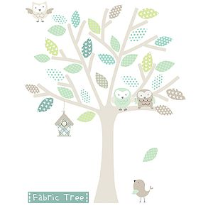 Neutral Fabric Tree Wall Sticker - kitchen
