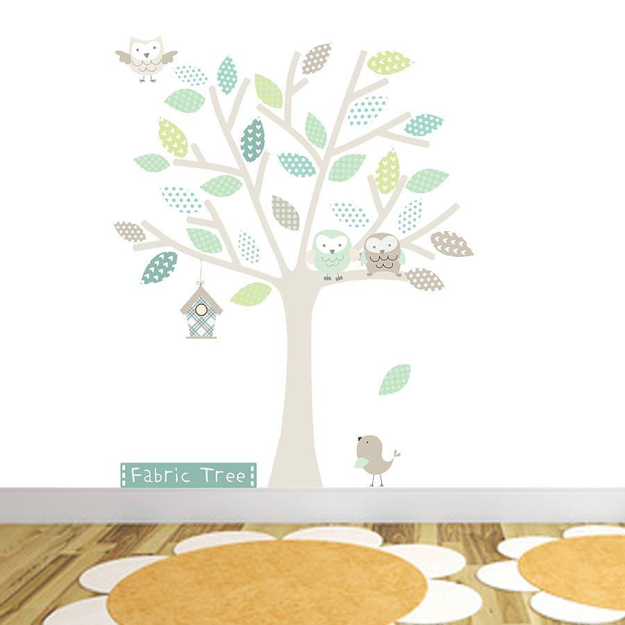 Neutral Fabric Tree Wall Sticker By Littleprints