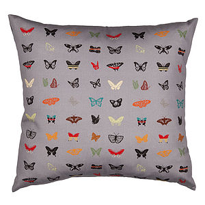 Midnight Butterfly Cushion