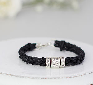 Silver Message Bracelet - men's jewellery