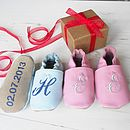 Personalised Mix 'N' Match Initial Baby Shoes