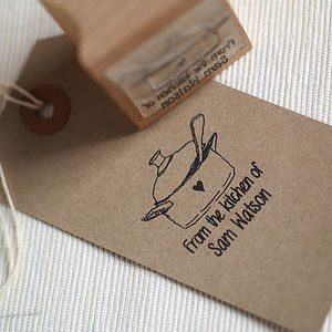 'Homemade Yummies' Personalised Rubber Stamp
