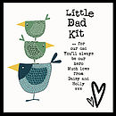 'Little Dad Kit' - showing detail of personalised message inside the lid