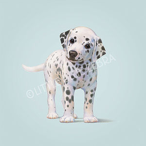 Illustrated Dog Print - children's pictures & paintings