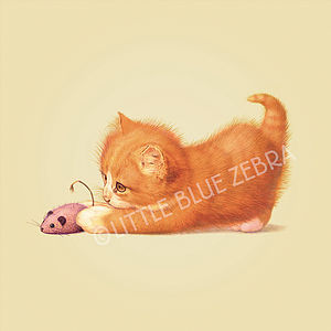 Illustrated Cat Print - posters & prints