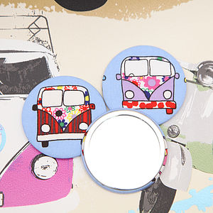 Camper Van Handbag Mirror With Pouch - beauty accessories
