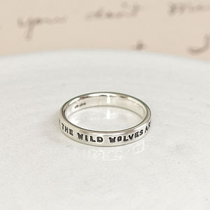 Personalised Silver Message Ring - men's jewellery