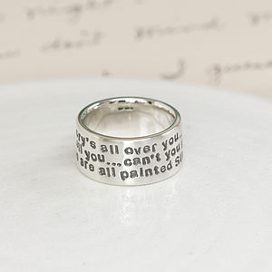 Personalised Sterling Silver Message Ring - rings