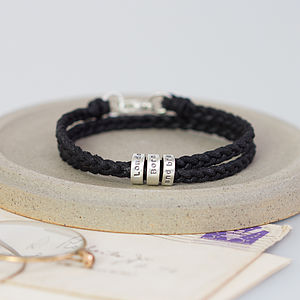 Personalised Message Bracelet - for young men