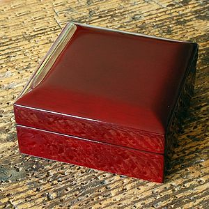 Lacquered Cufflink Box - bedroom