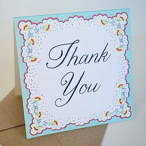 Spring Petals Thank You Card Pack - wedding thank you gifts