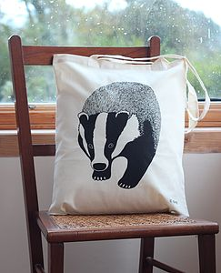 Badger Print Tote Bag - bags & purses