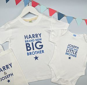 Boy's Personalised Brothers Gift Set - clothing