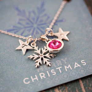 Design Your Own Snowflake Necklace - necklaces & pendants