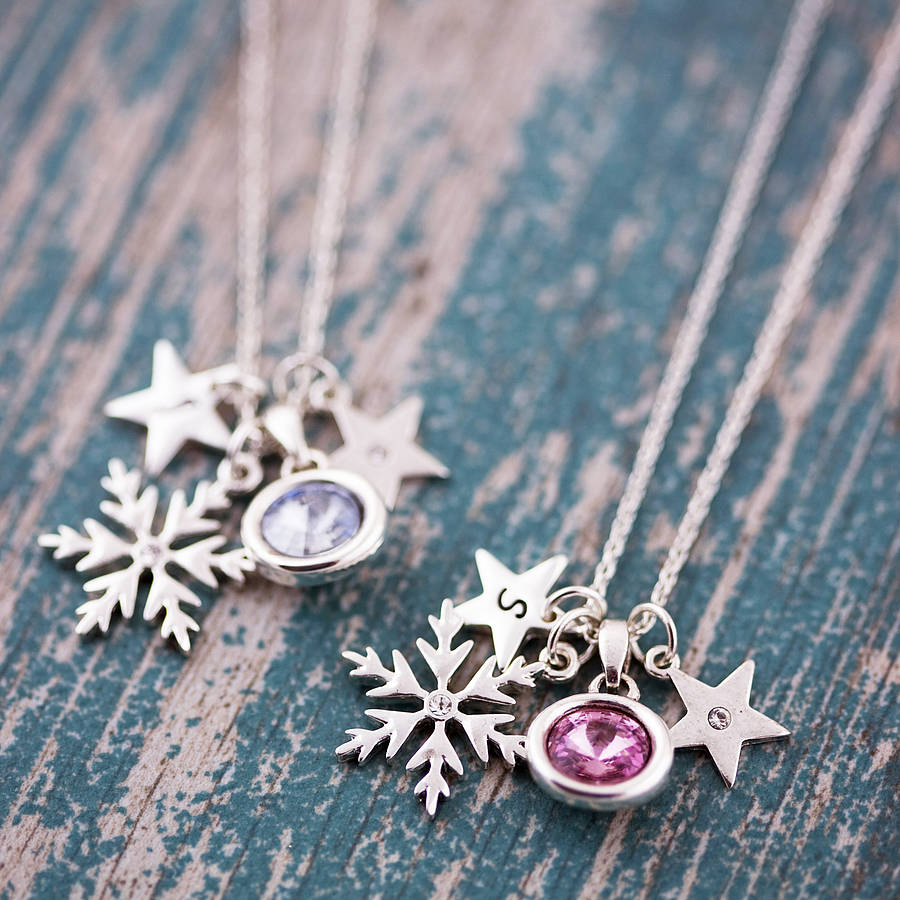 necklace charm snowflake pendant sterling jewelry zirconia cubic b dp amazon catcher silver ca