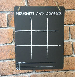 Noughts And Crosses Chalk Board Game - kitchen accessories