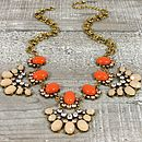 Crystal Bud Bib Necklace