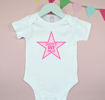 Personalised Girl's Baby Grows