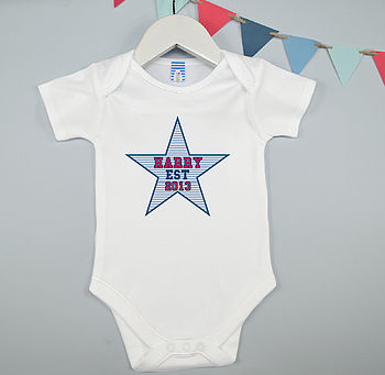 Personalised Boy's Baby Grow